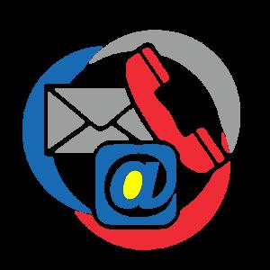 kontakt, Telefon, @ und Brief